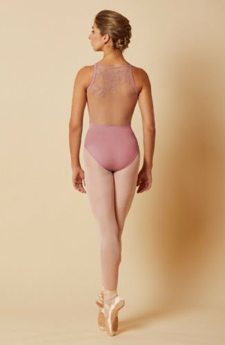 Mirella by Bloch Ladies Dance Embroidered Mesh Back Camisole Leotard M2171 Rose